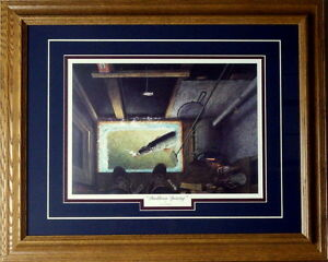Darkhouse Spearing By Les Kouba Framed Ice Spearing Print 21 x 17 $39.95