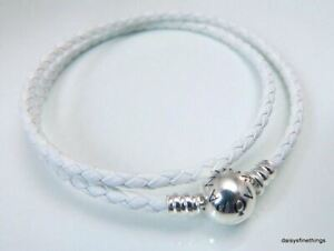 AUTHENTIC PANDORA BRACELET DOUBLE BRAIDED IVORY WHITE #590745CIW-D2 7.5IN19CM