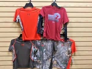 Lot of 5 Under Armour T Shirts Size 6 Realtree Camo Shirts Under Armour Camo