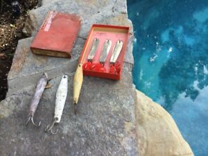 Six Vintage Tuna Jig Iron Lure'sSTARMAN CANDYBARBone JigParker Commercial