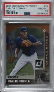 2015 Panini Donruss Preferred Grand Stand Bronze #38 Carlos Correa PSA 10 GEM MT