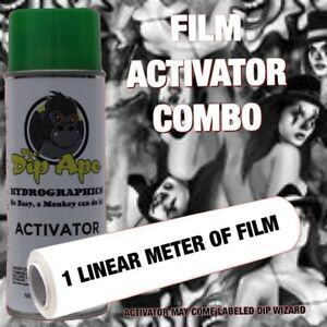 BAD GIRLS amp; CLOWNS DIP APE ACTIVATOR FILM COMBO HYDROGRAPHIC WATER TRANSFER