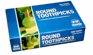 2400 Count Royal Round Wood Wooden Toothpicks (3 boxes of 800)
