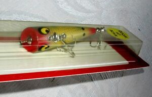 VINTAGE SMITHWICK Yellow Perch WOOD CHUG POPPER DEVEL'S HORSE LURE;NOS~MINT
