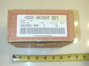 OHAUS hook weight set 10g- 1kg for balance beam scales