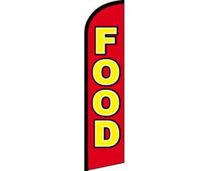 Food Red / Yellow Windless Banner Advertising Marketing Flag