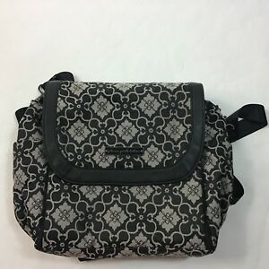 Petunia Pickle baby diaper bag handbag backpack Black & gray