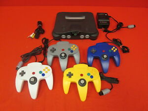 Nintendo 64 System Video Game Console With 4 Controllers Very Good 9410