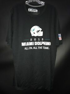 #93 NDAMUKONG SUH MIAMI DOLPHINS GAME USED BLACK DRI-FIT WORKOUT T-SHIRT ALL-IN