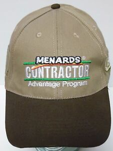 MENARDS Home Improvement CONTRACTOR ADVANTAGE ELJER PLUMBING ADVERTISING Cap Hat