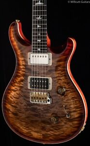 PRS Custom 24 Wood Library 10 Top Flame Maple Neck Autumn Sky (005)