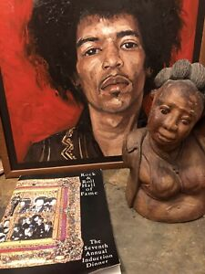 Jimi Hendrix Artifacts Personal item and Rock and Roll hall of fame booklet
