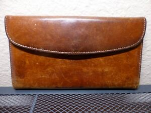 Vintage Coach Deep Brown Women's Wallet with checkbook insert amazing find