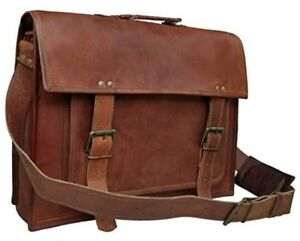 18 Inch Leather Messenger Bags For Men Women Mens Briefcase 17 Inch Laptop Bag B