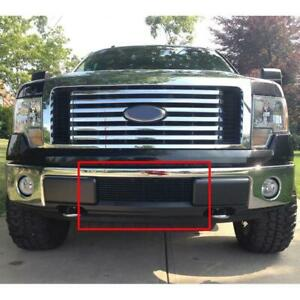 Fits 09-14 Ford F150 Pikcup Black Billet Grille Insert Lower Bumper F66789H