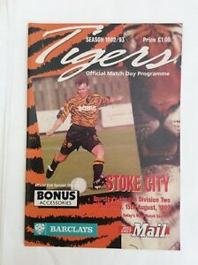Hull city v Stoke City Barclays League division 2 August 1992