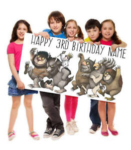 Where the Wild Things Are Birthday Personalized Custom Vinyl or Poster Banner