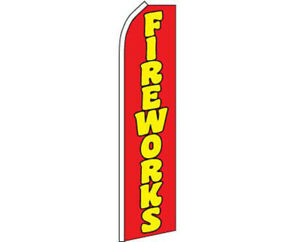 Fireworks Red / Yellow Swooper Super Feather Advertising Flag