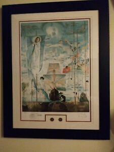 Salvador Dali Discovery of America pencil signed and numbered lithograph $1495.00