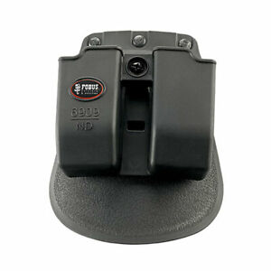 Fobus 9mm Evolution Pouch Double Mag Belt Holster .40 Stack Black Ambi 6909NDBH