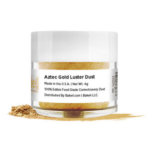 Bakell™ Aztec Antique Gold Edible Luster Dust 4g Food Grade Pearlized Decorating