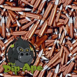 HYDROGRAPHIC FILM HYDRO BULLETS GOLD .308 WATER TRANSFER DIP APE