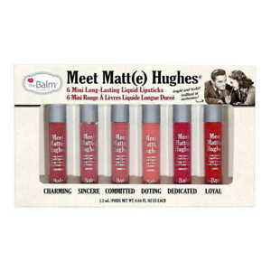 theBalm Meet Matte Hughes Set of 6 Mini Long Lasting Liquid Lipsticks Vol. 1