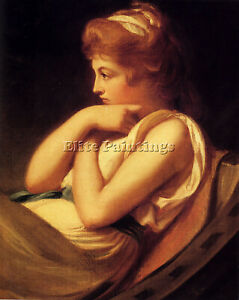 ROMNEY GEORGE SERENA IN CONTEMPLATION ARTIST PAINTING REPRODUCTION HANDMADE OIL