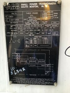 10 MVA substation power transformer 13800 HV 4160y2400 LV. ABB