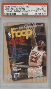 1998 99 Upper Deck Living Legend Cover Story Michael Jordan #C4 PSA 10 HOF