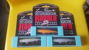 RAPALA LIMITED EDITION COLLECTIBLE 100TH ANNIVERSARY LURES ALL 3 COLORS