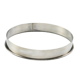 Stainless Steel Flan Ring Tart Cake Pastry Baking Mould for Pizza Pan 10