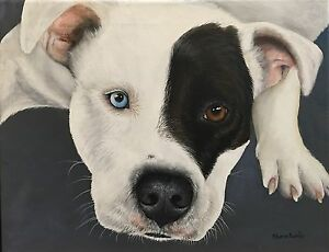 Pet Portrait Painting Animal Artist Sharon Lamb Dog Art Cat Art Horse Art Custom $155.00