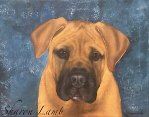 Custom Pet Painting Pet Portrait Dogs Horses Animal Artist Sharon Lamb Pet Loss $155.00