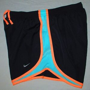 Nike Dri-Fit Tempo Running Shorts - Women's Large L (navypeachturquoise) NWT