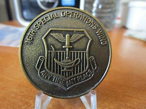 USAF 16th Special Operations Wing AFSOC Major General Lee Downer Challenge Coin