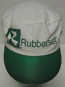 MENARDS Home Improvement Advertising RUBBERSET White Green Painters Cap Hat