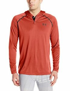 Under Armour Men's Tech Popover Hoodie Rocket Red (984)Black
