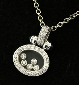 Italy platinum 1.01ct VS1G diamond floating diamond sapphire pendant necklace