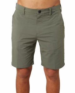 New Hurley Men's Dri Fit Chino 19 Mens Short Fitted Spandex Green