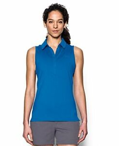 Under Armour Golf Womens Zinger Sleeveless Polo MediterraneanMediterraneanMe