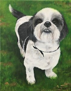 Custom Pet Painting Pet Portrait Custom Art By Animal Artist Sharon Lamb $155.00