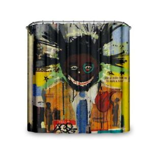 Popeven® Waterproof And Mould Proof Realistic Graffito Shower Curtain Vivid