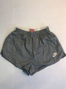 Vintage Nike Running Shorts Size S Gray Made In USA Grey