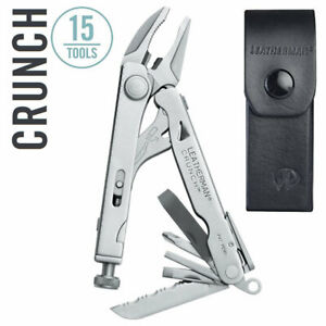 NEW Leatherman Crunch Multi Tool w Locking Jaw Pliers amp; Leather Sheath