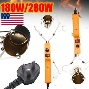 280W Electric Portable Lead Melting Pot Solder Furnace Casting Heads Tin In USA