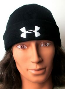 Men's Under Armour Black Tactical Stealth Beanie Stocking Cap Sz Large