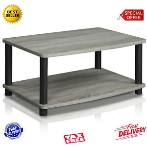 Modern Grey Coffee Table Small Wood End Storage Stand Living Room Furniture New