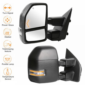 2 Power Heated LED Signal Towing Mirrors w Temp Sensor For 17 20 Ford F250 F350 $229.99