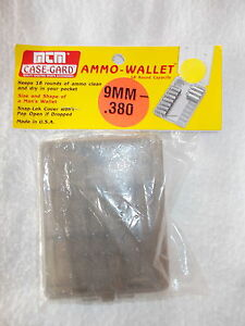NEW IN PACKAGE : MTM CASE - CASE- GUARD - AMMO WALLET FOR .380  9 MM CALIBERS.